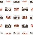 old camera seamless pattern vintage photography vector image vector image