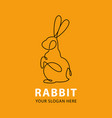 one line rabbit logo vector image