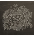Peru hand lettering and doodles elements vector image vector image