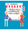 Pharmacy Pensioners Characters vector image vector image