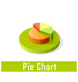 pie chart icon symbol vector image