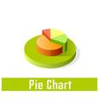 pie chart icon symbol vector image