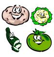 potato cauliflower zucchini green tomato vector image vector image