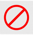 prohibiting sign icon vector image vector image