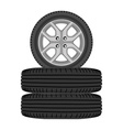 Realistic car wheels vector image