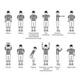 referee american football icon set vector image vector image