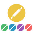 rolling pin colored round icons vector image vector image