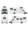 rv camper realistic family camping trailer for vector image vector image