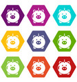 safe money icons set 9 vector image vector image