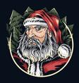 santa claus face on christmas eve editable layers vector image vector image