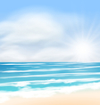 Sea Landscape Background Sunrise vector image vector image