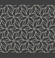 seamless flower pattern on dark grey background vector image vector image
