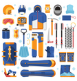 Snowboard Equipment Set vector image vector image