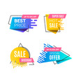 speed style gradient banner vector image vector image