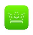 steel crown icon green vector image vector image