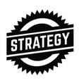 strategy stamp on white vector image