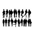 student activity silhouettes vector image vector image