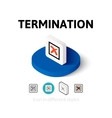 Termination icon in different style vector image vector image