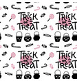 trick or treat - lettering text background vector image vector image