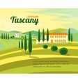 Tuscany Rural Landscape with Houses Banner vector image vector image