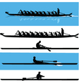 rowing silhouette vector image