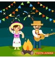 Festa Junina St Johns june festival vector image