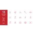 15 eat icons vector image vector image