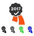 2017 approve seal flat icon vector image vector image