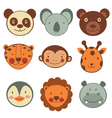 Animal head icons vector image