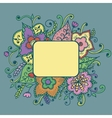Artistic bright card with floral pattern vector image