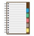 Blank Paper with Notebook vector image vector image
