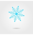 blue snowflake icon with shadow vector image vector image