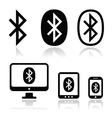 Bluetooth connection icons set vector image vector image