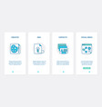 business project creation in social media ux ui vector image vector image