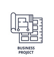 business project line icon concept business vector image vector image