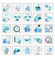 business technology internet website icons vector image