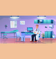 cabinet doctor practitioner in office room vector image vector image