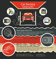 car repair infographics cat service and tire vector image vector image