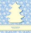 christmas backgr snow vector image vector image