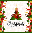 christmas background with realistic decoration vector image