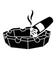 cigar ashtray icon simple style