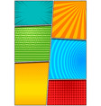 comic colorful vertical background vector image vector image