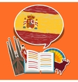 Concept of travel or studying Spanish vector image