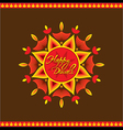 Creative happy diwali greeting card design vector image