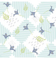 cute flowers pattern background vector image vector image