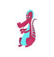 cute funny baby dragon cartoon character mythical vector image