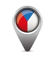 Czech republic - Czechia flag pointer vector image