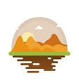 desert scape cartoon vector image vector image