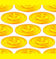 dollar coin pattern vector image vector image
