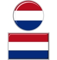 Dutch round and square icon flag vector image